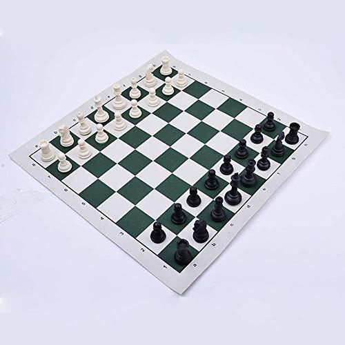 N\C Juego de ajedrez portátil, Juego de ajedrez al Aire Libre, Juego de Tablero de Piezas de ajedrez, ajedrez magnético de Viaje dgt con Bolsa de ajedrez, Juego de ajedrez, para niños y Adultos