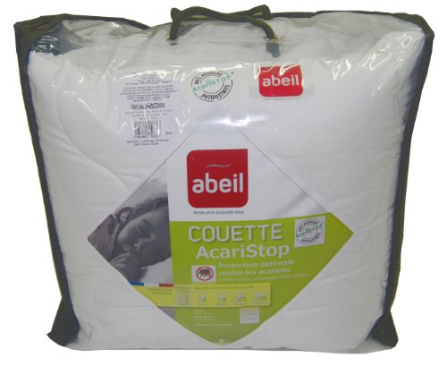 Abeil Couette Acaristop Chaude Coton 140 x 200 cm, fabriquée en France