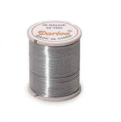 Darice 26-Gauge Beading Wire, 22-Yard, Silver
