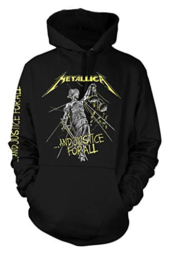 Metallica and Justice For All James Hetfield Oficial Sudaderas Capucha Hombre (Small)