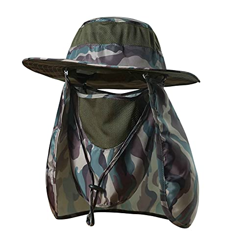 KOOLSOLY Fishing Hat,Sun Cap with UPF 50+ Sun Protection and Neck Flap,for Man and Women