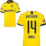 PUMA Borussia Dortmund BVB Heimtrikot 2019 2020 Home Trikot Sponsor BL Logo Kinder Nico Schulz 14 Gr 128