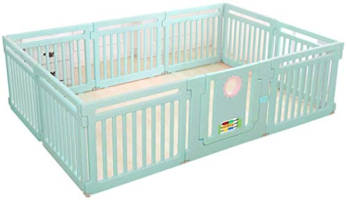 GFF Rectangle Baby Playpen Activity CenteSafety Playard Door, Kid's Fence Indoor Outdoor, Easy Assembled, Anti-Slip Base with Lock