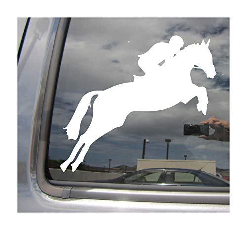 Equestrian Horseback Riding Horse - Cars Trucks Moped Helmet Hard Hat Auto Automotive Craft Laptop Vinyl Decal Store Window Wall Sticker 04020