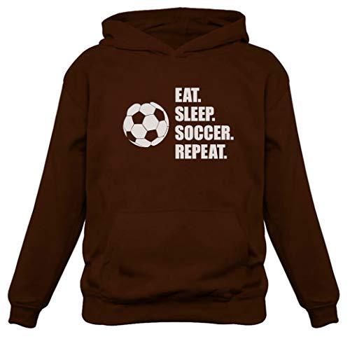 TeeStars – Eat Sleep Soccer Repeat Hoodie