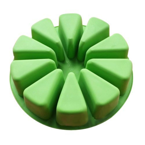 Vancgoods grand moule rond souple de gâteau de silicone pour le gâteau de savon fait à la main de DIY avec la cavité formée triangulaire 10
