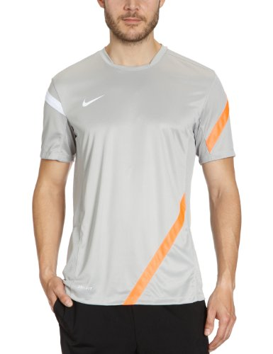 Nike Premier - Camiseta para hombre, tamaño S, color granite / bright mango / blanco