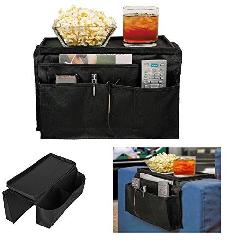 Koksi - Organizer per bracciolo da divano, con 6 tasche, per riporre riviste, tablet, telefono, computer portatile, bevande