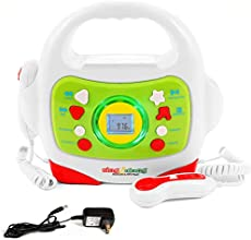 IQ Toys MP3 Player and Karaoke Machine with 2 Microphones Music Player for Kids - Bluetooth/MP3/USB/Micro SD Connection