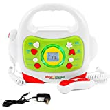 IQ Toys MP3 Player and Karaoke Machine with 2 Microphones Music Player for Kids - Bluetooth/MP3/USB/Micro SD...
