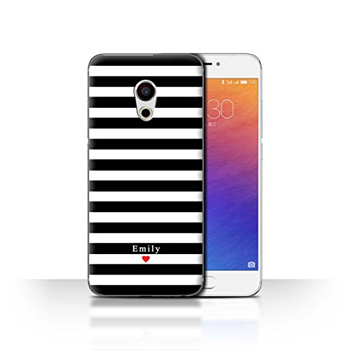Stuff4 Phone Case/Cover/Skin/mzupro6/Custom Stripes/Striped Collection Coeur Rayure Noir
