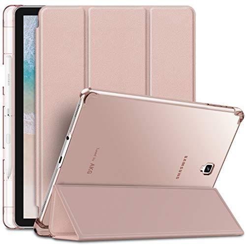 INFILAND Samsung Galaxy Tab S4 10.5 2018 Hülle Case mit S Pen Halter, Superleicht Transluzent Smart Schutzhülle mit Auto Schlaf/Wach Funktion für Galaxy Tab S4 10.5 (SM-T830/SM-T835),Rosa Goldene