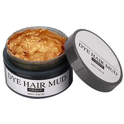 Wegwerp Haarverf Modder Modellering Haar Wax Haarverf Crème Thuis Kapsalon DIY Haarkleuring Wax Verven Crème Styling Tool(Goud)