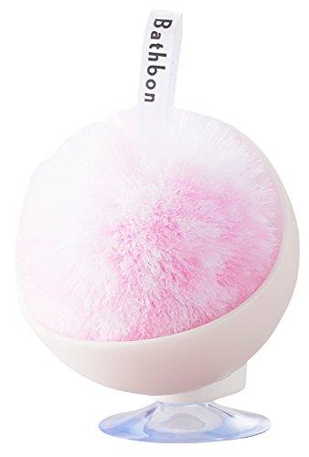山崎産業 スポンジ 洗面台 バスボンくん スッキリポンポン ケース付き 抗菌 ピンク 178803