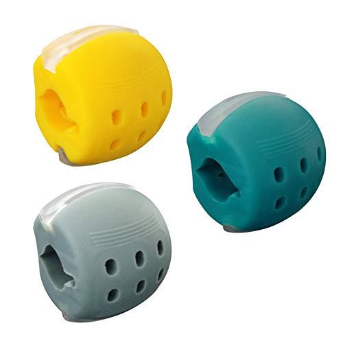 3Pcs Jawline Exerciser,Hyacinthy Tonificador Facial Para Ejercitar la Mandíbula y Tonificación del Cuello, Ejercitador de Doble Mentón de Silicona, Nivel 1, 2 y 3