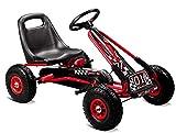 Lean Kinder Go Kart Racing Car Full Speed Tretauto Gokart rot 3-7 Jahre mit Vollgummireifen