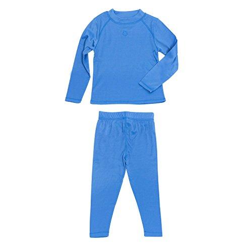 Gregster Kinder Skiunterwäsche Set, Blau, 134/140, 11381