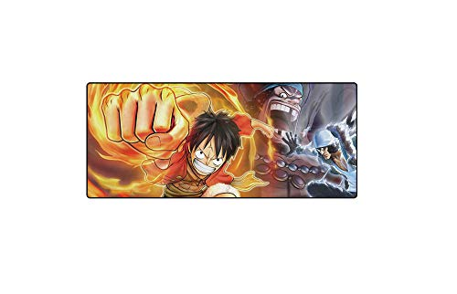 WZRYJDQS Una Pieza Mouse Pad Gaming Large XXL Cartoon Anime Keyboard Keyboard Pad Computer Pc Antideslizante Mouse Pad 900X400X3Mm