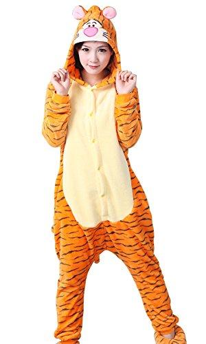 iloveSIA iloveSIA Schlafanzug-Overall Unisex Tigger Onesie Pyjama Pajama Superweicher, MehrfarbigTigger, L(Hohe:168-178cm), MehrfarbigTigger, L(Hohe:168-178cm)