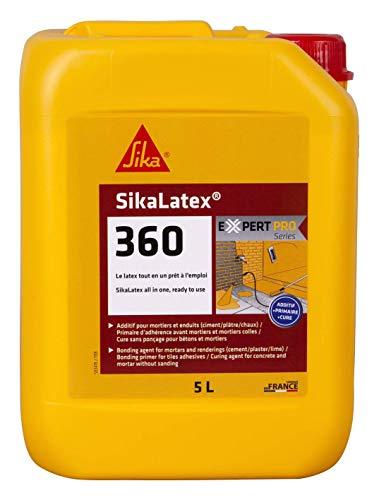 Sika - SikaLatex 360, Additif pour mortier et béton, primaire et produit de cure prêt à lemploi, 5L