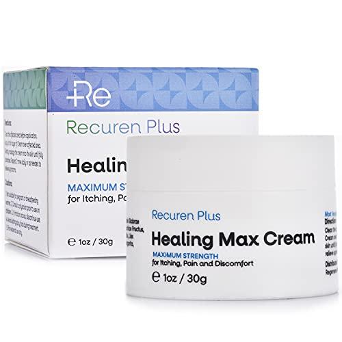 Recuren Plus Dermatitis Eczema Psoriasis Cream, Max Strength for Athletes...