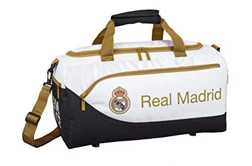 Real Madrid CF 711954553 Bolsa de Deporte, Juventud Unisex, Blanco, Único