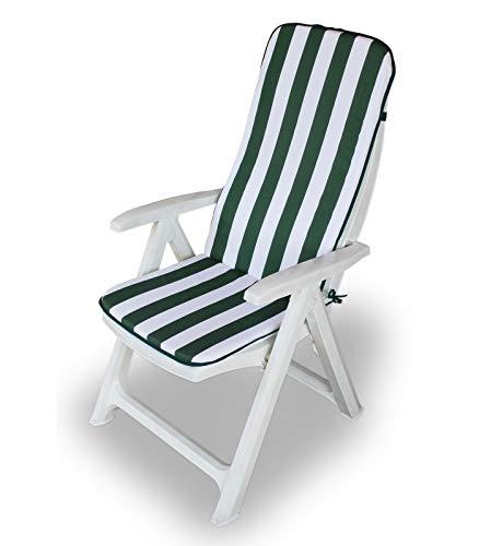 Cuscino copri sedia sdraio Relax per esterno seduta + schienale 45x120 cm AA330