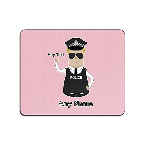UNIGIFT Persoonlijk Cadeau - Police Constable/Sergeant / (Chief) Inspector Mouse Mat (Police Design Kleur) Naam Bericht Unieke Pad PC SGT INSP CID DS - Blond/Geel Politie Hoed - Detective
