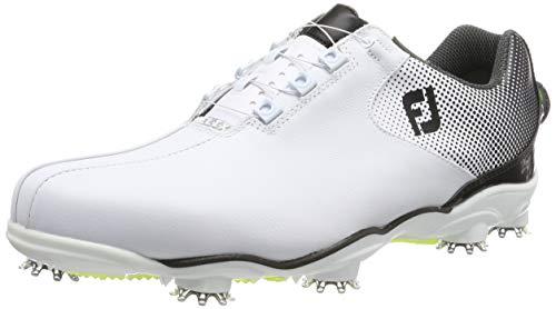 Footjoy Herren D.n.a Helix Golfschuhe, Weiß (Blanco/Negro 53319), 44.5 EU