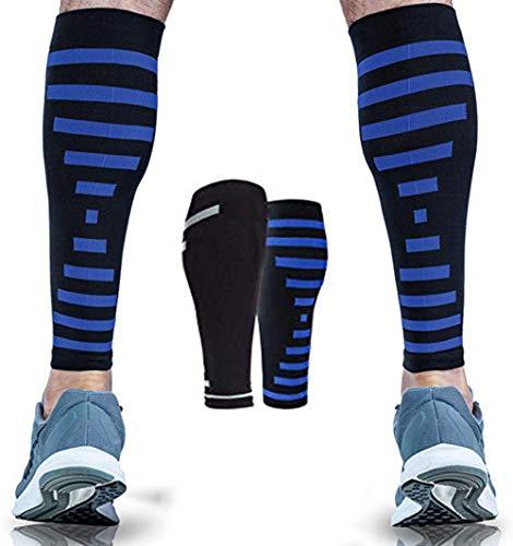 LLQ Kompressions wadenbandage,Supreme Shin Splint Sleeves, für Männer und Frauen Ultimative Unterstützung für die Schmerzlinderung und Erholung der Beine 1 Paar,XXL