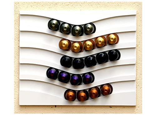 Kapselspender für Nespresso, für 50 Kapseln, horizontal, Weiß