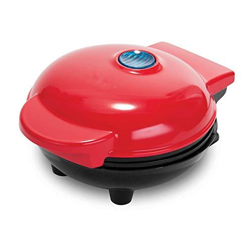 DDELLK Mini-wafelijzer, 3 in 1, wafelijzer voor klassieke hartwafels, rood wafelmachine