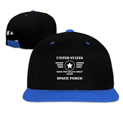 Gorra de béisbol para niños y niñas de la Fuerza Espacial de los Estados Unidos 2 - negro - talla única