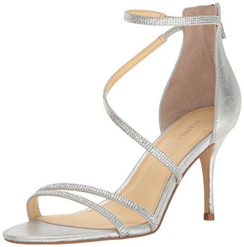 Ivanka Trump Women's Genese Heeled Sandal, Silver, 8 Medium US