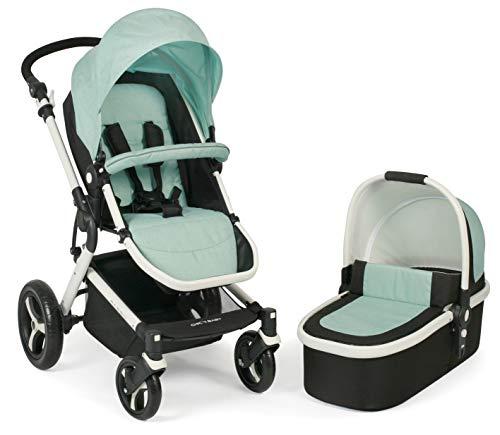 CHIC 4 BABY 163 66 Kombi-Kinderwagen Passo, inklusive Babywanne, Sportsitz und Maxi-Cosi Adapter, mint, grün
