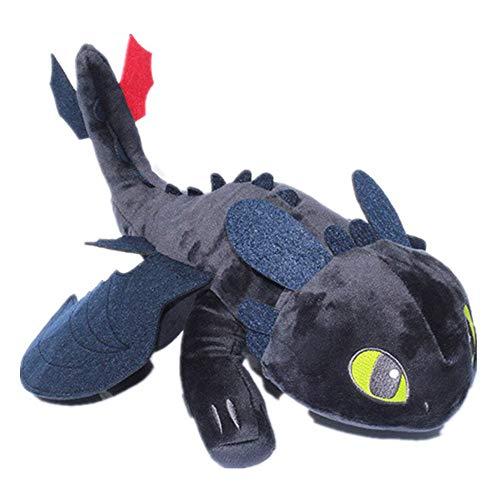 GSDJU Cute Toothless Dragon Toys, Cómo Entrenar a tu dragón Juguetes, Original Dragons Series Black Plush Doll, Regalo para niño, Dragon Toy Plush. ¡Peluche