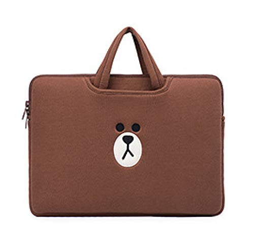 SMZNXF Tablet PC case,Laptop Sleeve Case Bag For Macbook Air Pro 11 13 13.3 14 15 15.6 inch Notebook Bag PC Tablet Case Cover for Xiaomi Air HP Dell,brown,12,Inch