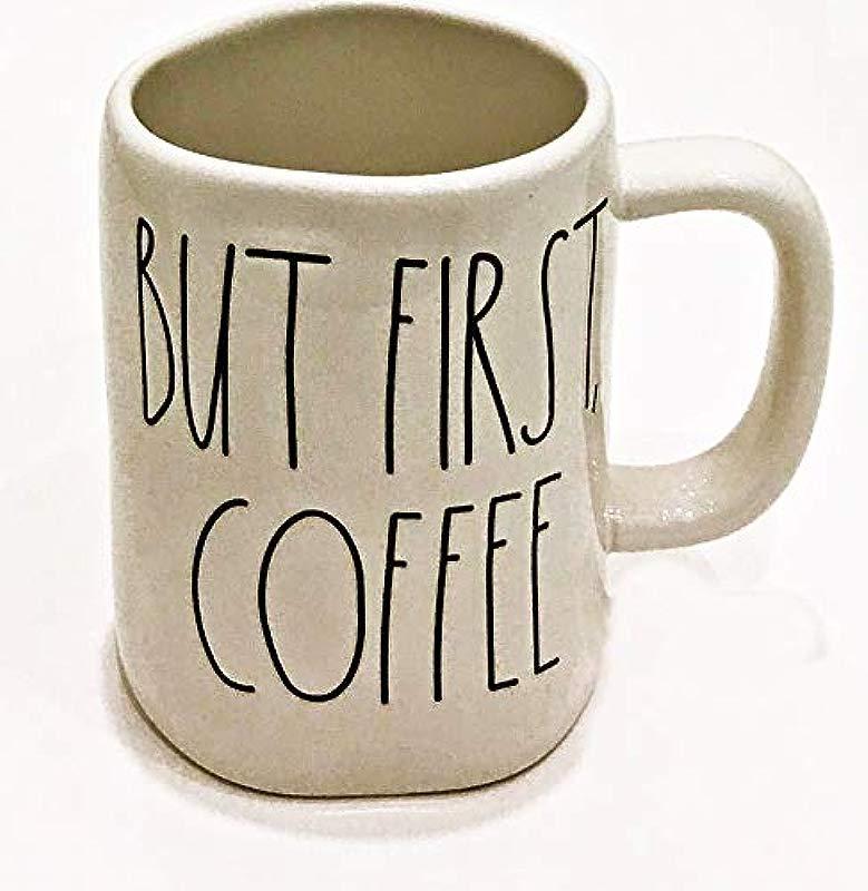 Rae Dunn By Magenta Ceramic Mug BUT FIRST COFFEE