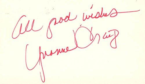 Yvonne Craig - Autograph Sentiment Signed