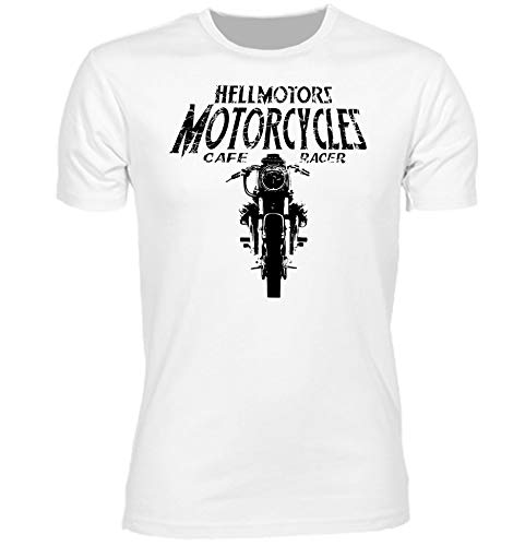 HELLMOTORS Moto Guzzi Biker Herren T-Shirt Motorrad Oltimer Chopper (XXL)