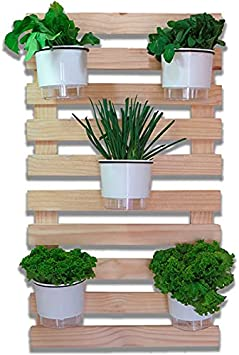 Horta Vertical Autoirrigável Five - Branco