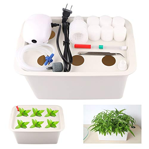 Aunifun Hydroponics Grower Kit DIY Self Watering Indoor Hydroponics Tools...