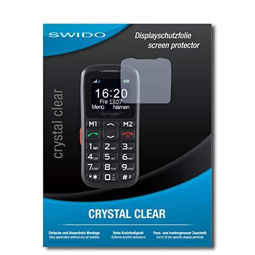 SWIDO Schutzfolie für Simvalley Mobile XL-915 V3 [2 Stück] Kristall-Klar, Hoher Festigkeitgrad, Schutz vor Öl, Staub & Kratzer/Glasfolie, Bildschirmschutz, Bildschirmschutzfolie, Panzerglas-Folie