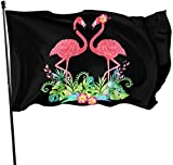 Oaqueen Funny Flamingo Decorative Flagge/Fahnes, Outdoor Artificial Flag for Home, Garden Yard Decorations 3x5 Ft