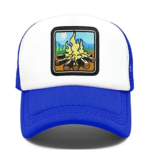 Yooci Gorras De Hombre Camper Camping Campfire Gorra de Camionero Senderismo Gorra de Camuflaje para Exterior Gorra de béisbol Campamento de Verano Cool Mesh Caps Hombres