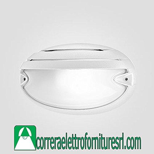 PRISMA Deckenleuchte Glas Wand Außen Chip Ovale 25Grill Weiß 2X 9W 005729