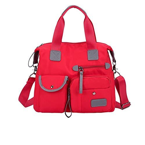 Bolso de mano de nailon para mujer, bolso cruzado para mujer, tamaño grande, para viajes, citas y compras