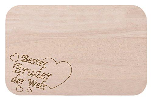 Desayuno/tabla de desayuno con grabado Mejor Hermano del Mundo como regalo–de madera–Idea regalo ideal para cumpleaños o Navidad
