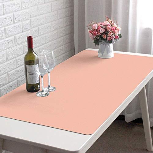 Protector de escritorio impermeable para escritura, de piel, antideslizante, tamaño grande, para ordenador, oficina, escritorio, blotter, portátil, escritorio, portátil, tapete de escritorio, 100 x 50 cm, color rosa