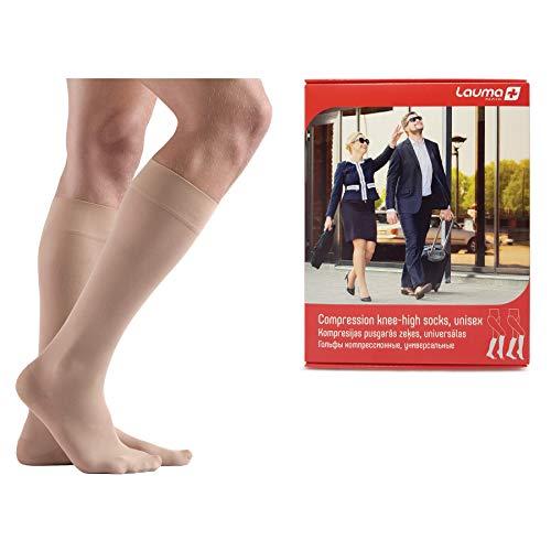 Lauma Medical, 23-32 mmHg medizinische Kompressions Kniestrümpfe für Damen und Herren, Klasse II, Class 2, Geschlossener Zehenbereich